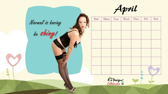Love for Pin Up April Calendar